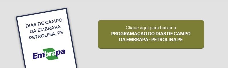 Clique aqui para baixar a programação completa do evento da Embrapa em Petrolina, PE.